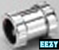 Marley Chrome Waste Compression Straight Coupling 40mm KMC2CX